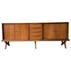 20th Century Vintage Walnut Sideboard, Rudolf Glatzel for Fristho Franeker, 1955
