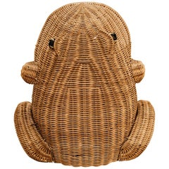 "20th Century Vintage Wicker ""Frog"" Magazineholder"