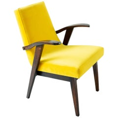 20th Century Vintage Yellow Armchair by Mieczyslaw Puchala, 1960s