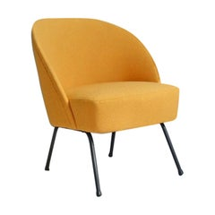 20th Century Vintage Yellow Club Chair Theo Ruth for Artifort, 1950s