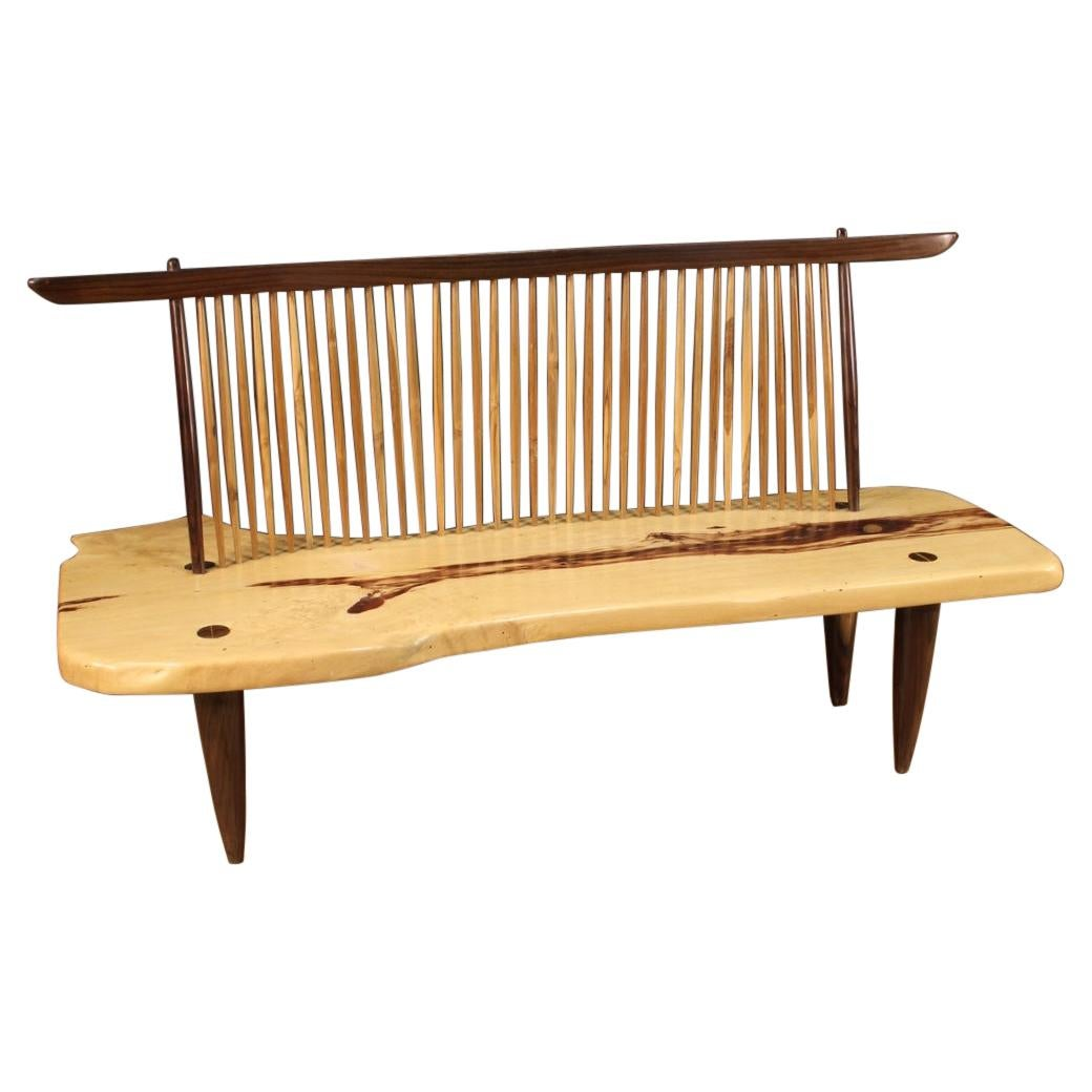 20th Century Walnut and Exotic Wood American Design Sofa, 1980