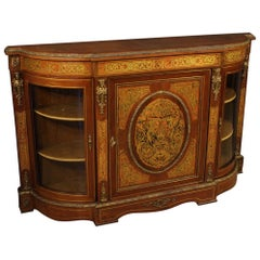 20th Century Walnut and Mahogany Wood French Boulle Style Sideboard, 1960