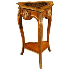 20th Century Walnut and Rosewood French Louis XV Style Side Table, 1960