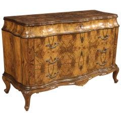 20th Century Walnut Burl and Beechwood Italian Dresser, 1950