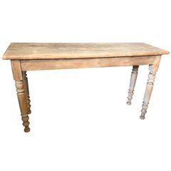 20th Century Walnut Louis Philippe Pickled Console, 1920s
