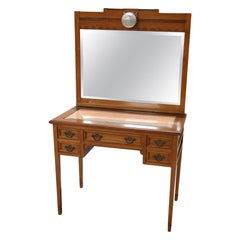 20th Century Walnut Vanity Table or Dressing Table