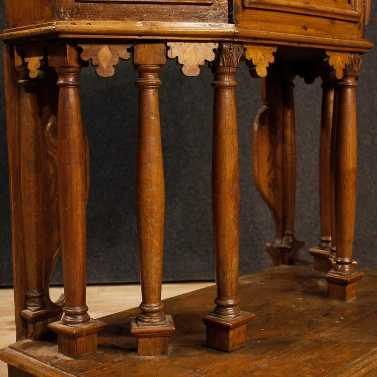 20th Century Walnut Wood Italian Kneeling Stool, 1950 For Sale 7