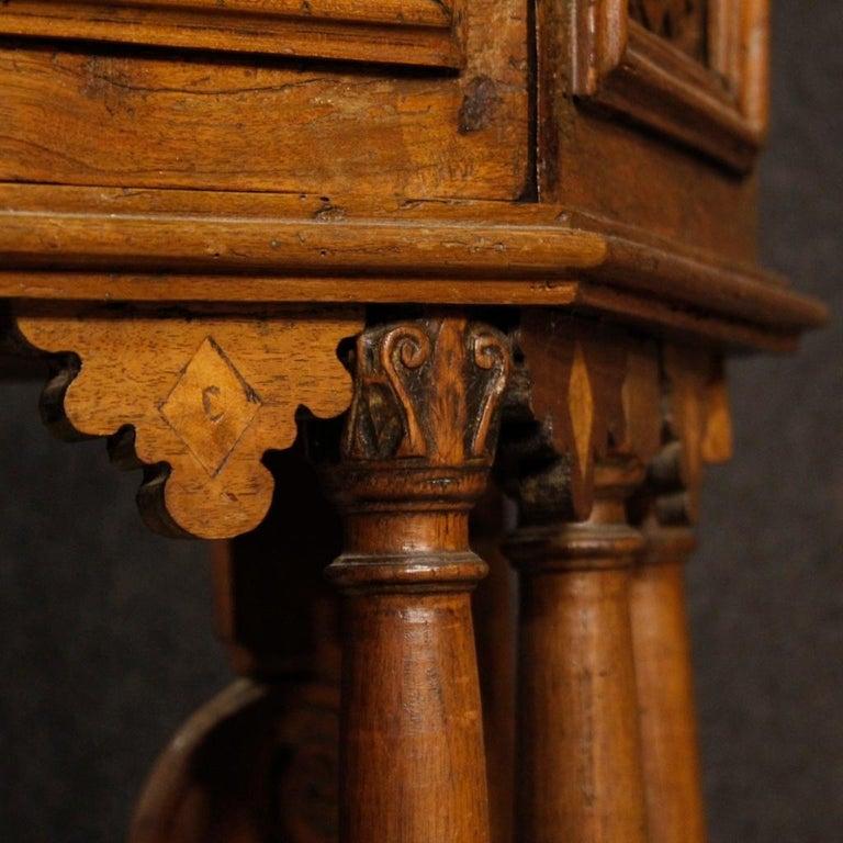 20th Century Walnut Wood Italian Kneeling Stool, 1950 For Sale 8