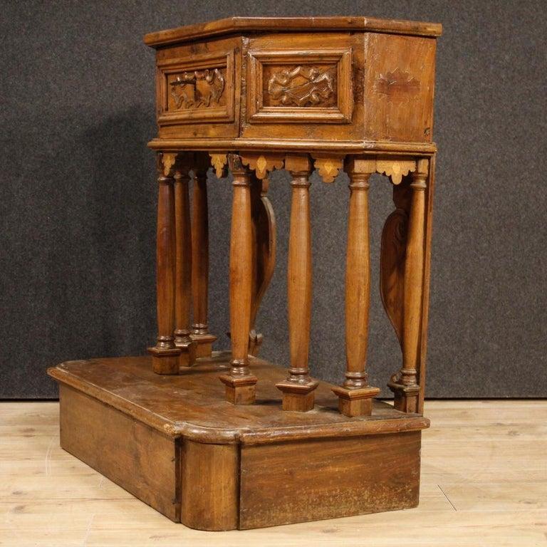 20th Century Walnut Wood Italian Kneeling Stool, 1950 For Sale 4