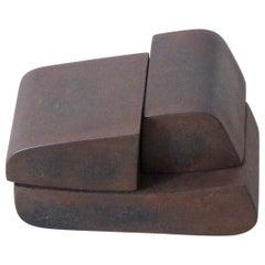 20th Century Watanabe Ryo Iron Sculpture in Three Part