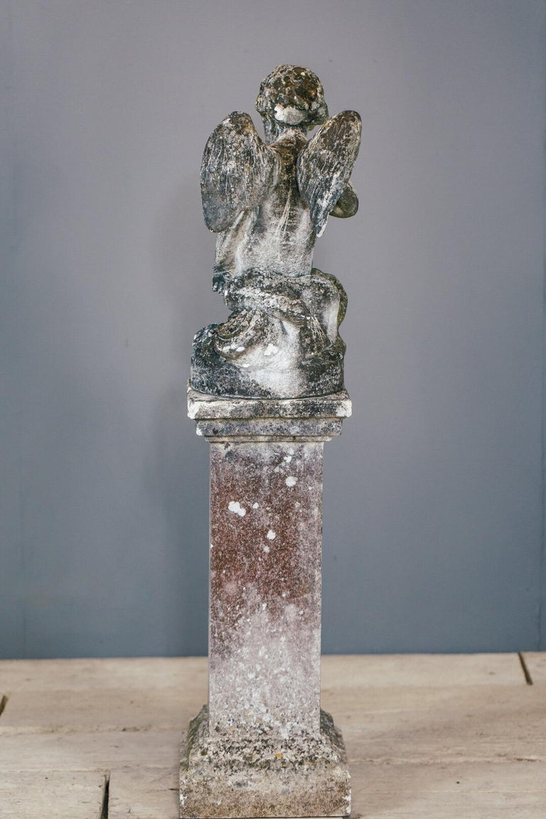 20th Century Weathered Angel Statue For Sale 7