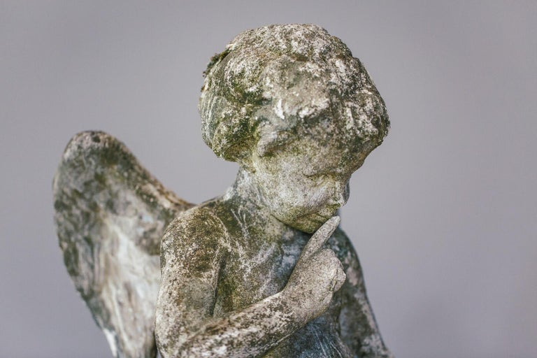 20th Century Weathered Angel Statue For Sale 5
