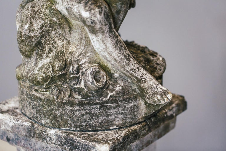 20th Century Weathered Angel Statue For Sale 6