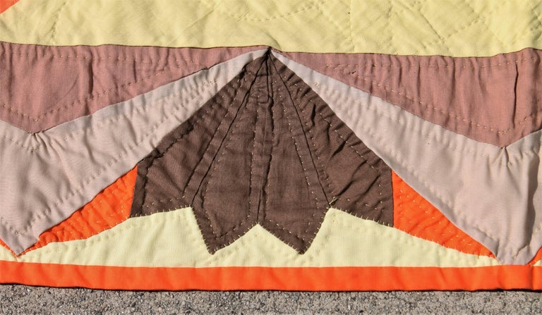 Other 20th Century Western Eight Point Star Quilt For Sale