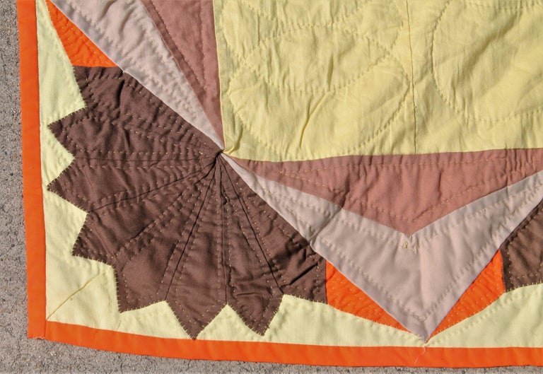 20th Century Western Eight Point Star Quilt In Excellent Condition For Sale In Los Angeles, CA