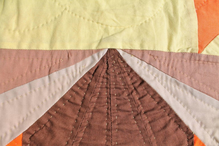 Mid-20th Century 20th Century Western Eight Point Star Quilt For Sale