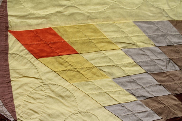 Cotton 20th Century Western Eight Point Star Quilt For Sale