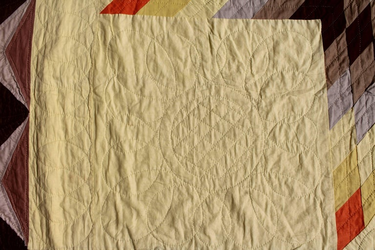 20th Century Western Eight Point Star Quilt For Sale 1
