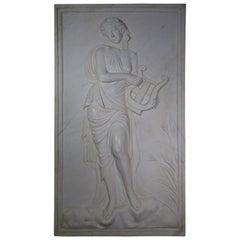 20th Century White Carrara Marble Plaster Relief Art