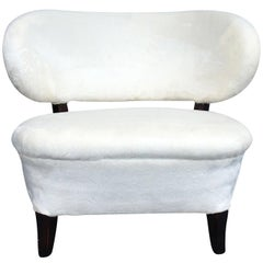 20th Century White Swedish Lounge Chair by Otto Schulz