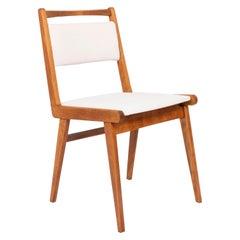 20th Century White Velvet Chair, Poland, 1960s