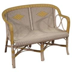 20th Century Wicker Italian Vintage Outdoor Sofa, 1980