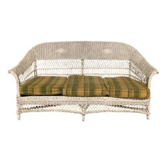 20th Century Wicker Settee