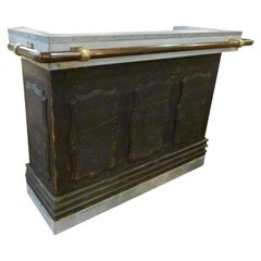 20th Century Wood and Marble Bar Counter