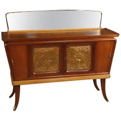 20th Century Wood and Mirror Italian Design Sideboard, 1960