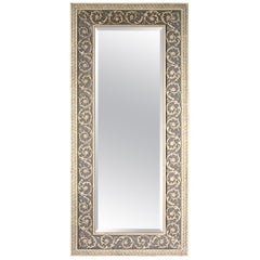 20th Century Wood Framed Wall Hanging Mirror
