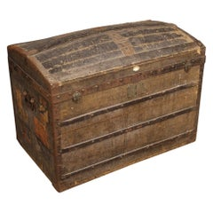 20th Century Wood French Travel Trunk, 1950