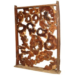 20th Century Wood Indonesian Room Divider / Sculpture, 1960