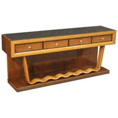 20th Century Wood Italian Design Console Table, 1960