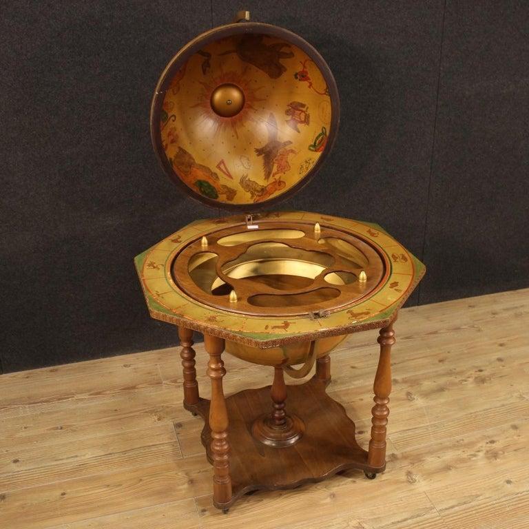 20th Century Wood Italian Globe Bar Cabinet, 1960 For Sale 1