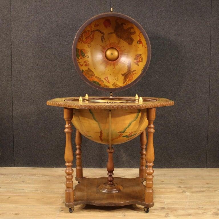 20th Century Wood Italian Globe Bar Cabinet, 1960 For Sale 2
