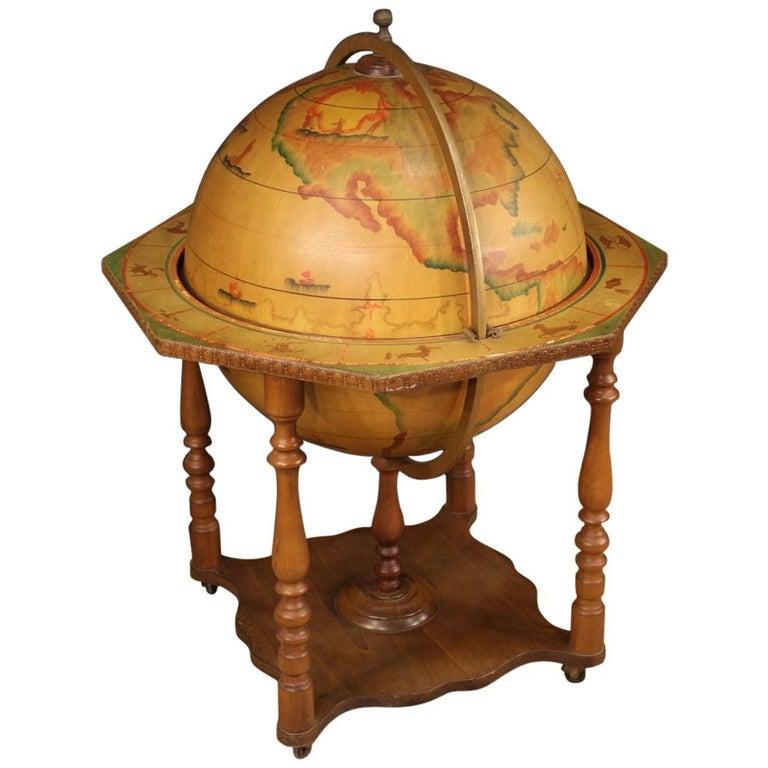 20th Century Wood Italian Globe Bar Cabinet, 1960 For Sale