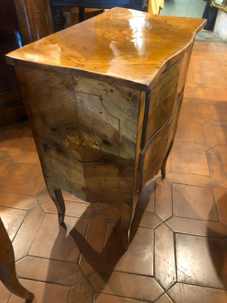20th Century Wood Louis XVI Revival Chest of Drawers and Nightstands, Italy 1910 For Sale 6