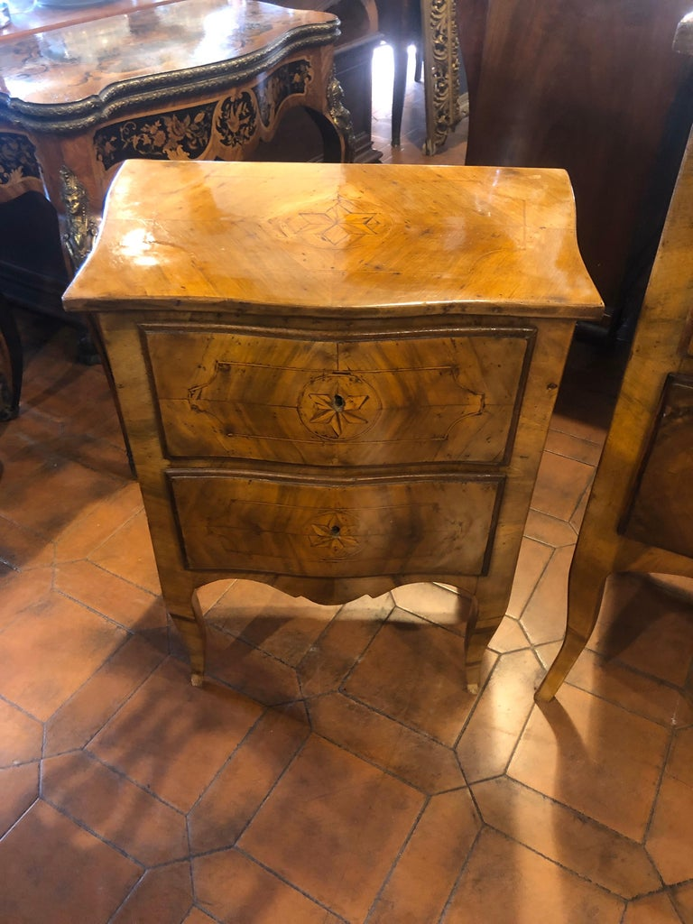 20th Century Wood Louis XVI Revival Chest of Drawers and Nightstands, Italy 1910 For Sale 2