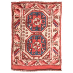 20th Century Wool Rug, Anatolia Geometric Design, circa 1940.
