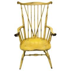 20th Century Yellow Fanback Windsor Chair by Bill Wallick