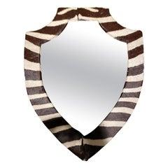 20th Century Zebra Hide Mirror
