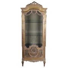 20th Century Elegant French Showcase in Louis XVI Style
