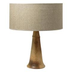20th Century Design Ceramic Table Lamp by JJ Prolongeau circa 1970 Brown Color