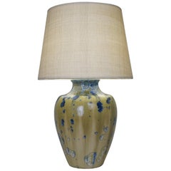 20th Century Enameled Ceramic Table Lamp