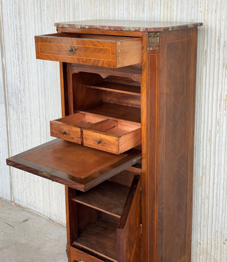 20th Century French Drop-Front Oak Secretary Desk or Abattant For Sale 5
