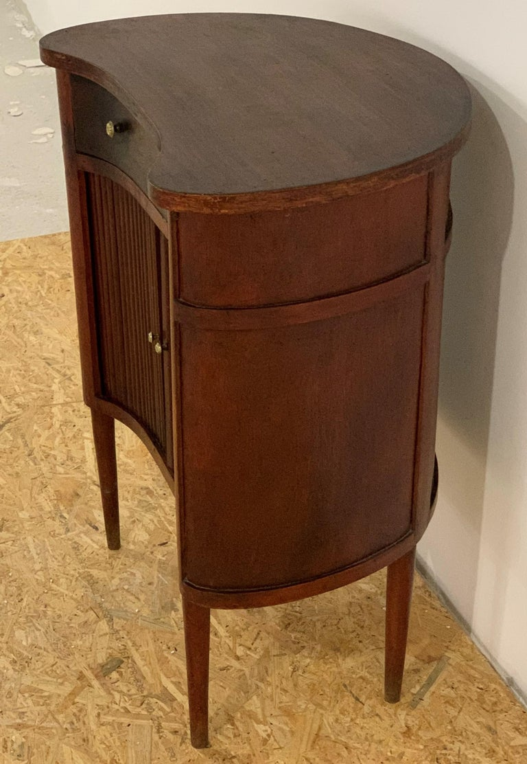 20th French Pair of Nightstands with Two Drawers and Sliding Doors In Good Condition For Sale In Miami, FL