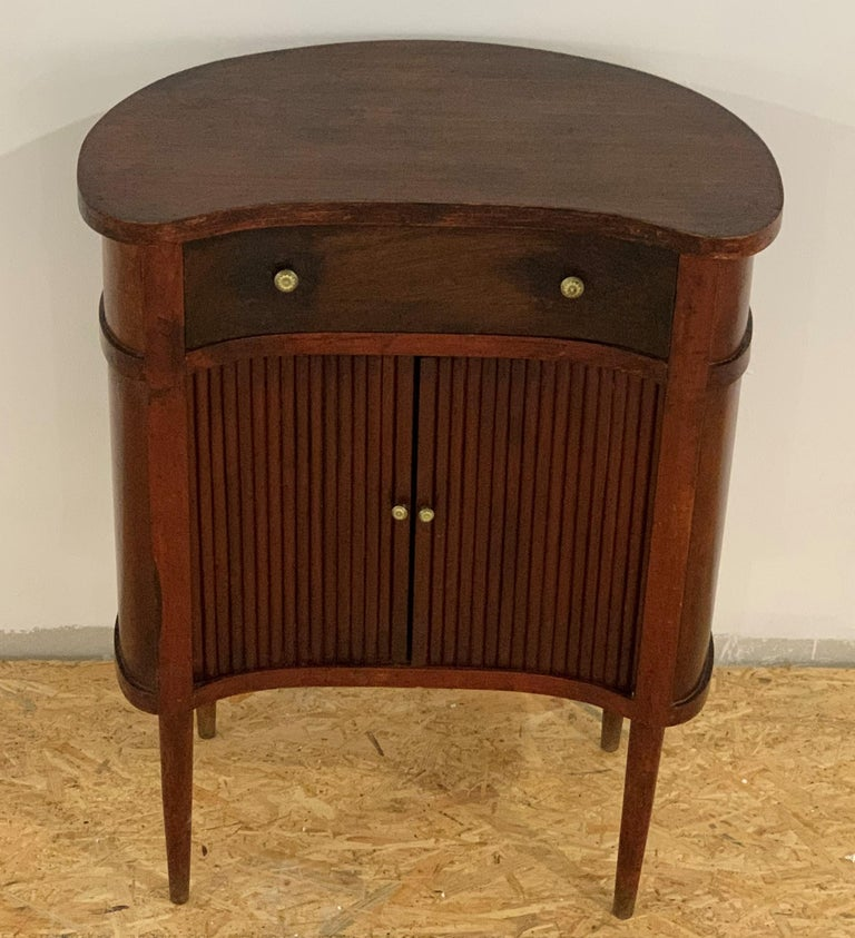 20th Century 20th French Pair of Nightstands with Two Drawers and Sliding Doors For Sale