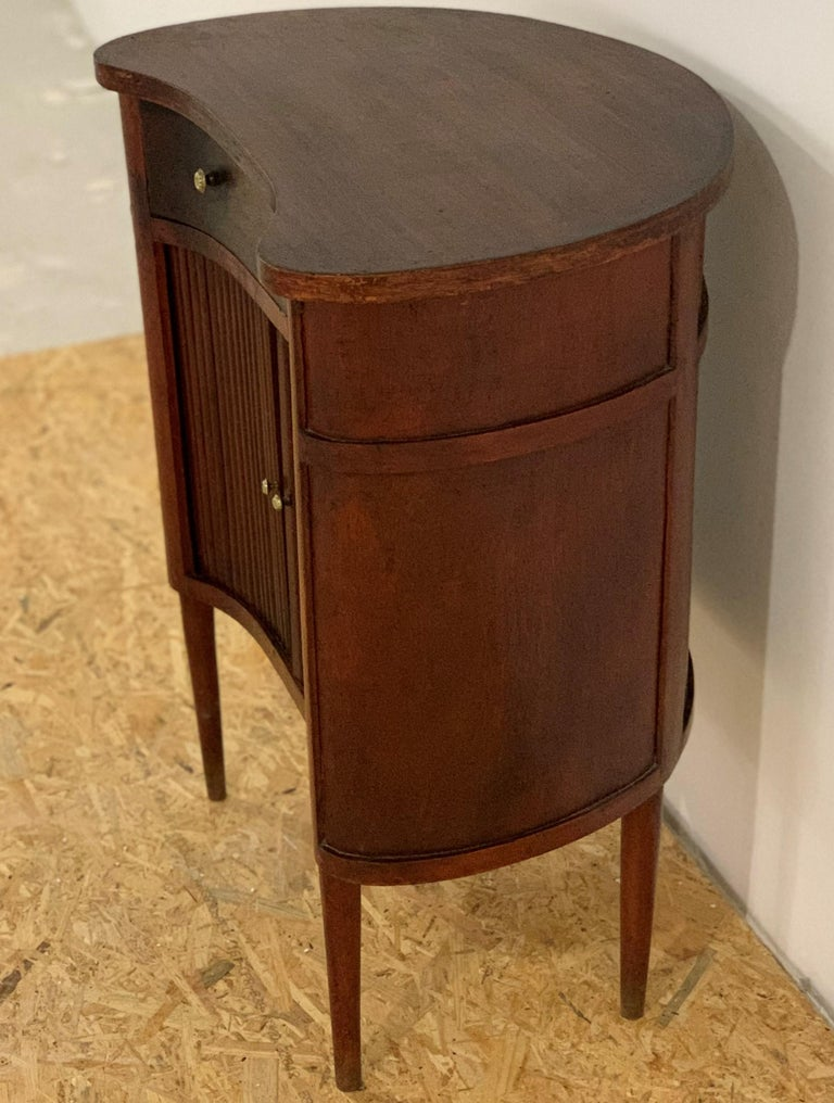 20th French Pair of Nightstands with Two Drawers and Sliding Doors For Sale 1