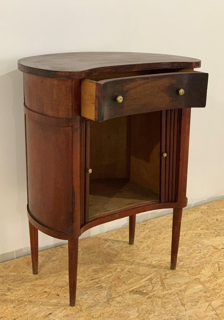 20th French Pair of Nightstands with Two Drawers and Sliding Doors For Sale 2
