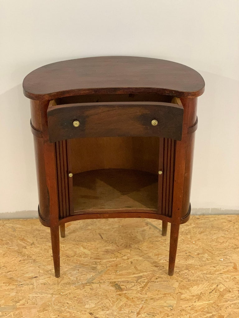 20th French Pair of Nightstands with Two Drawers and Sliding Doors For Sale 3